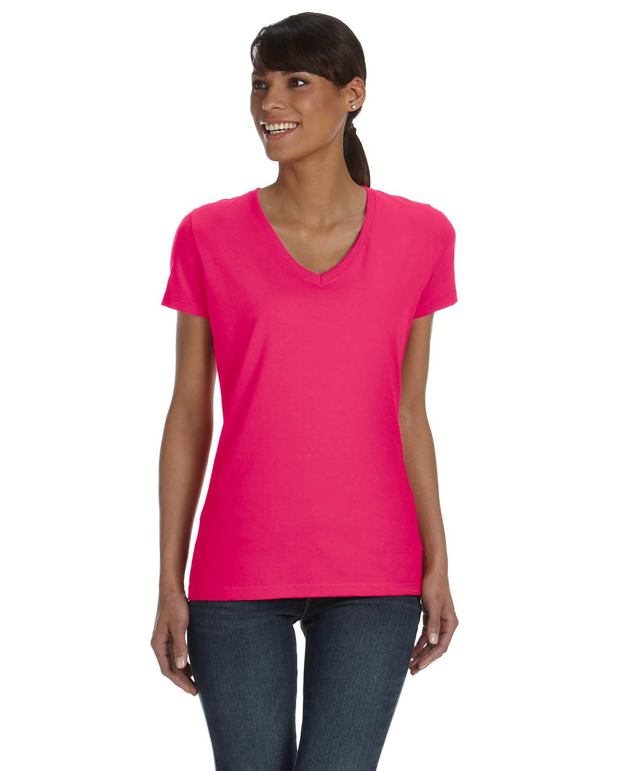 Fruit of the Loom L39VR - Ladies' Heavy Cotton HD V-Neck T-Shirt