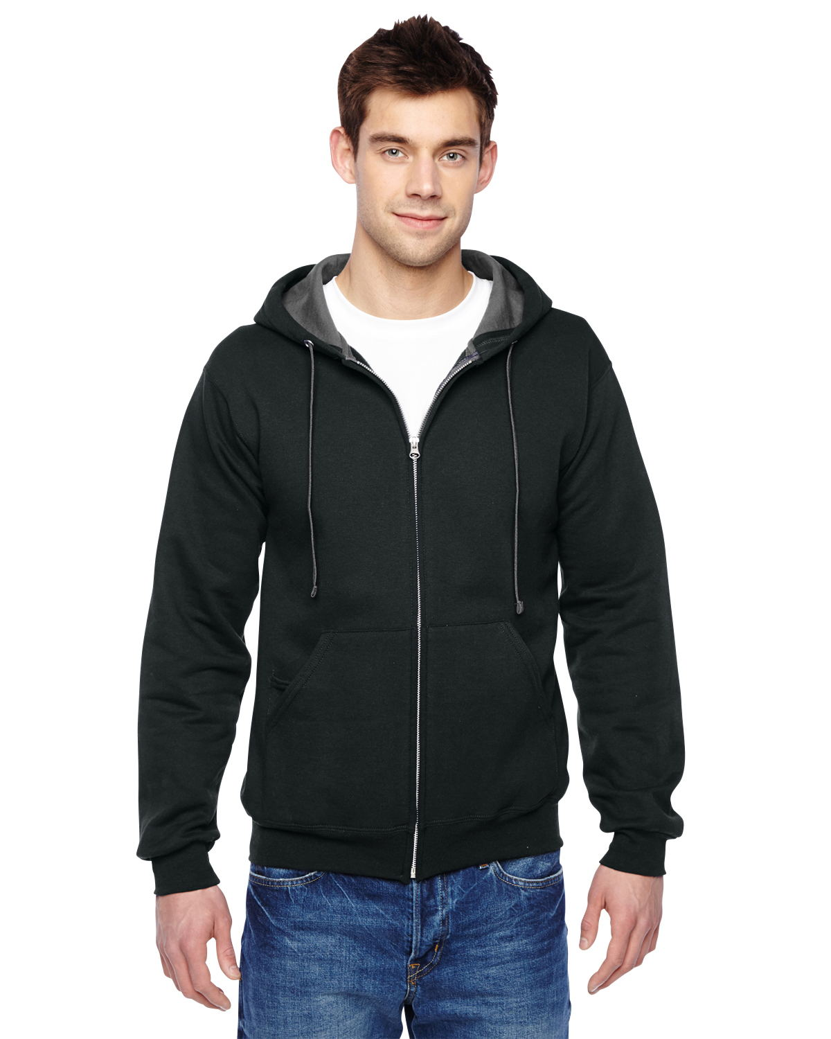 Fruit of the Loom SF73R - 7.2 oz. Sofspun Full-Zip Hooded ...