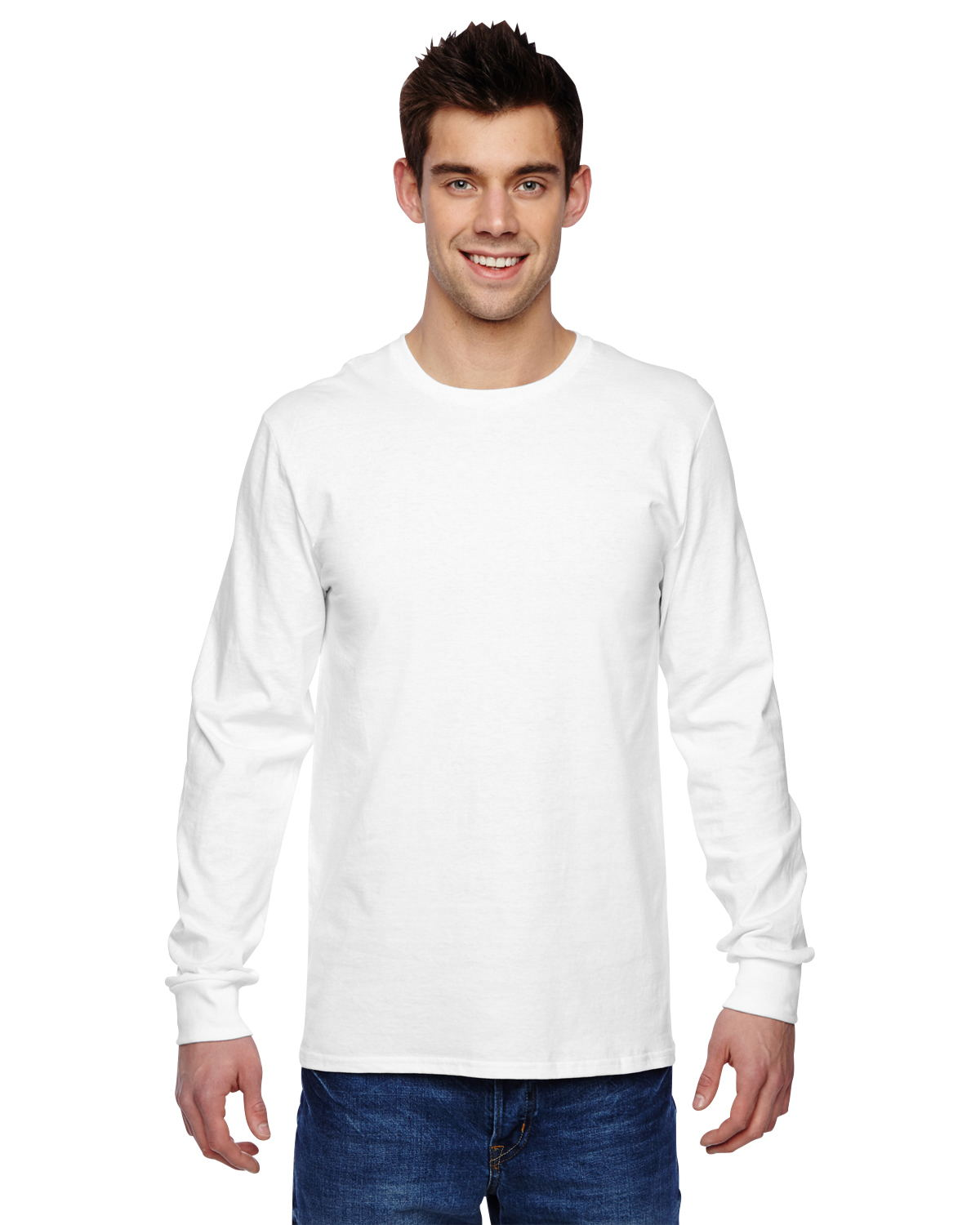 Fruit of the Loom SFLR - 4.7 oz. 100% Sofspun Cotton Jersey Long-Sleeve T-Shirt