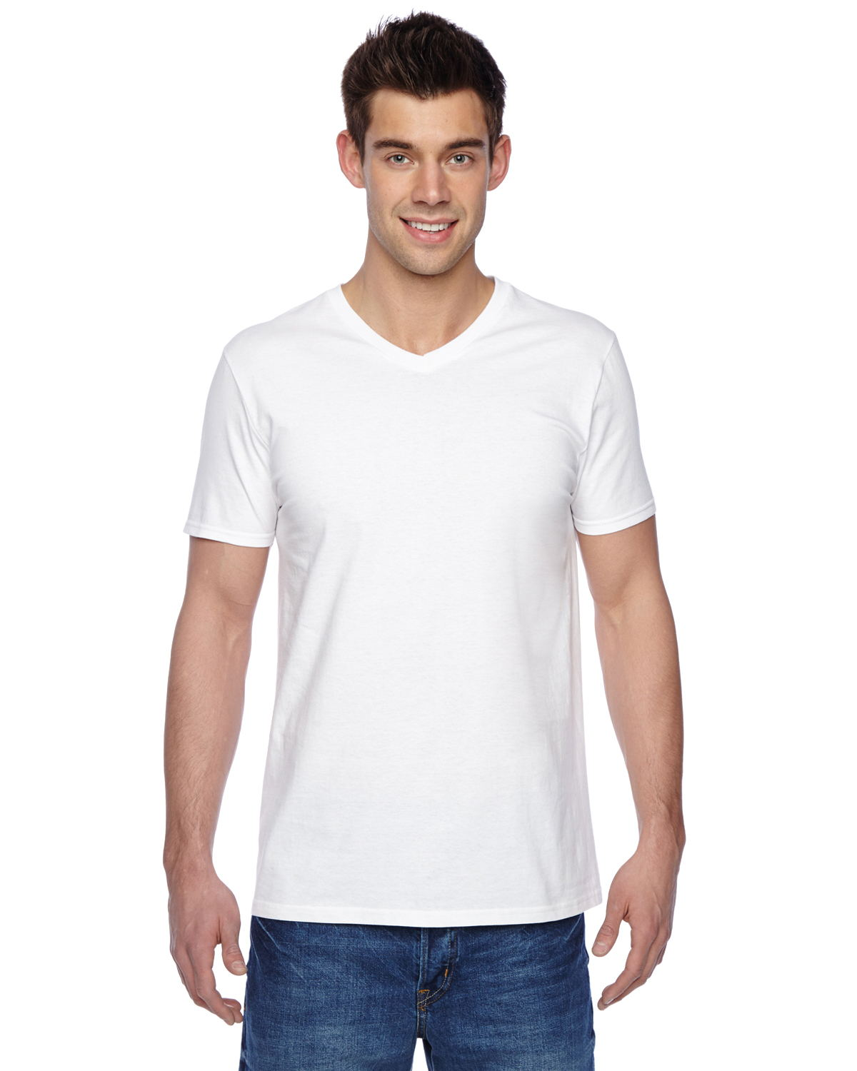 Fruit of the Loom SFVR - 4.7 oz. 100% Sofspun Cotton Jersey V-Neck T-Shirt