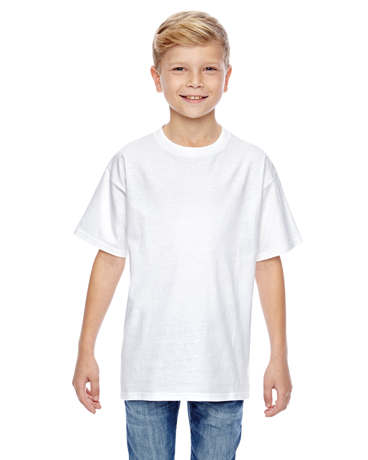Gildan 498Y - Youth 4.5 oz. 100% Ringspun Cotton nano-...