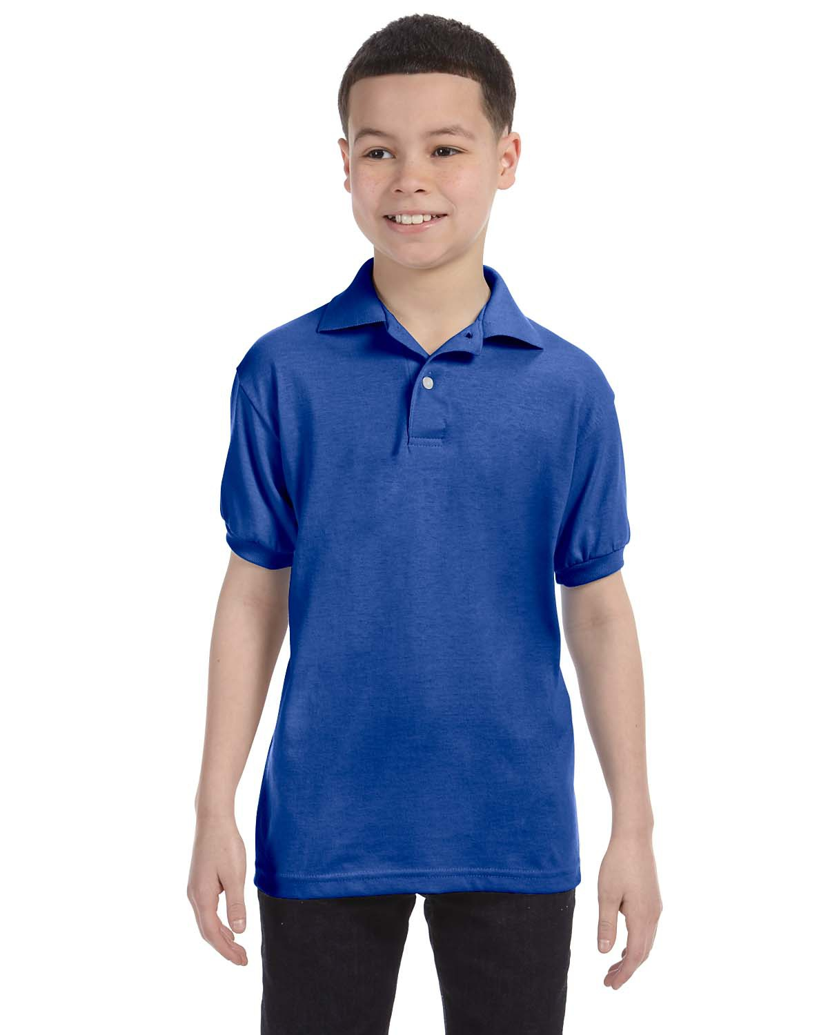 Hanes 054Y-Youth Jersey 50/50 Sport Shirt