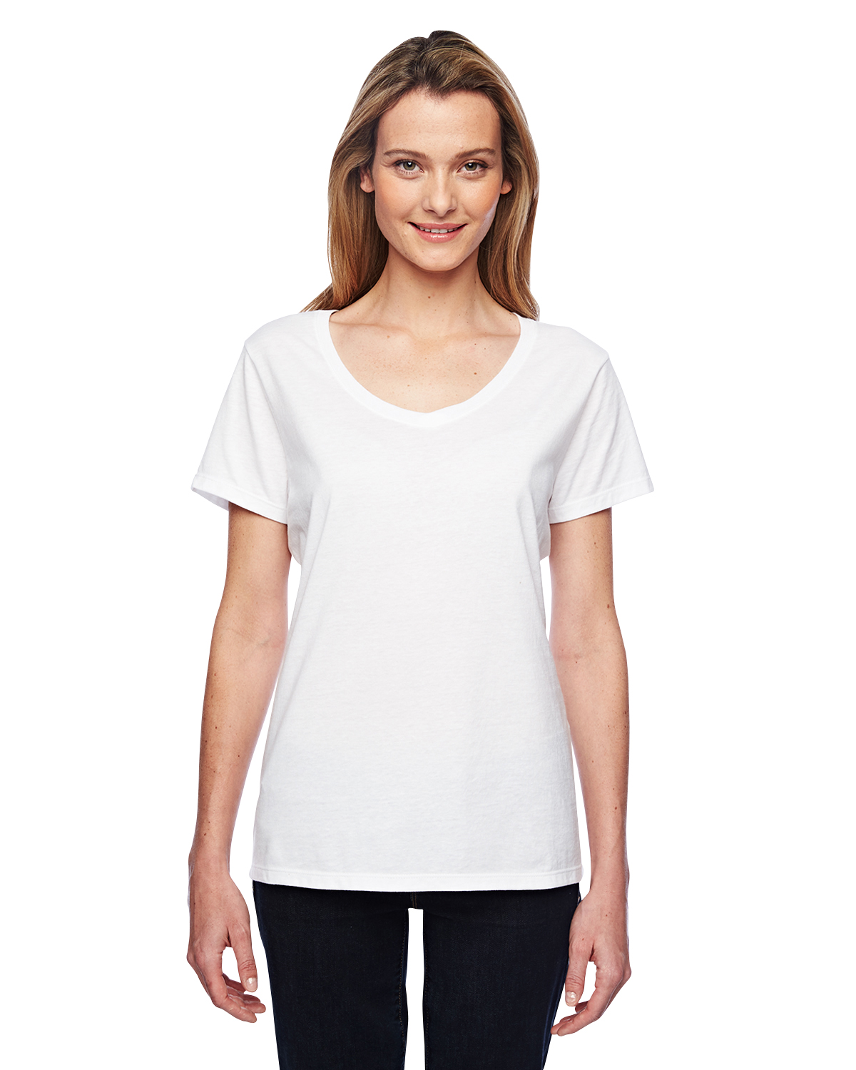 Hanes 42V0 - Ladies' Xtemp Performance V Neck Tee Shirt