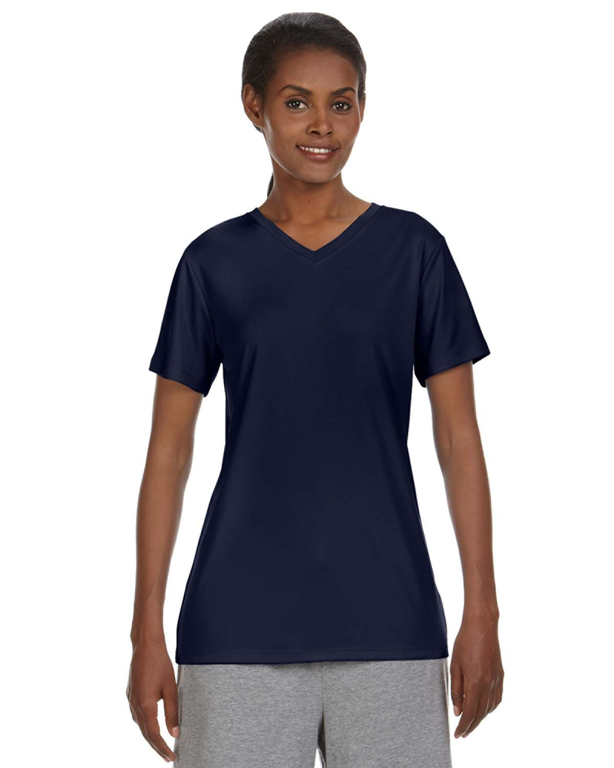 Hanes 483V - 4 oz. Cool Dri® V-Neck T-Shirt