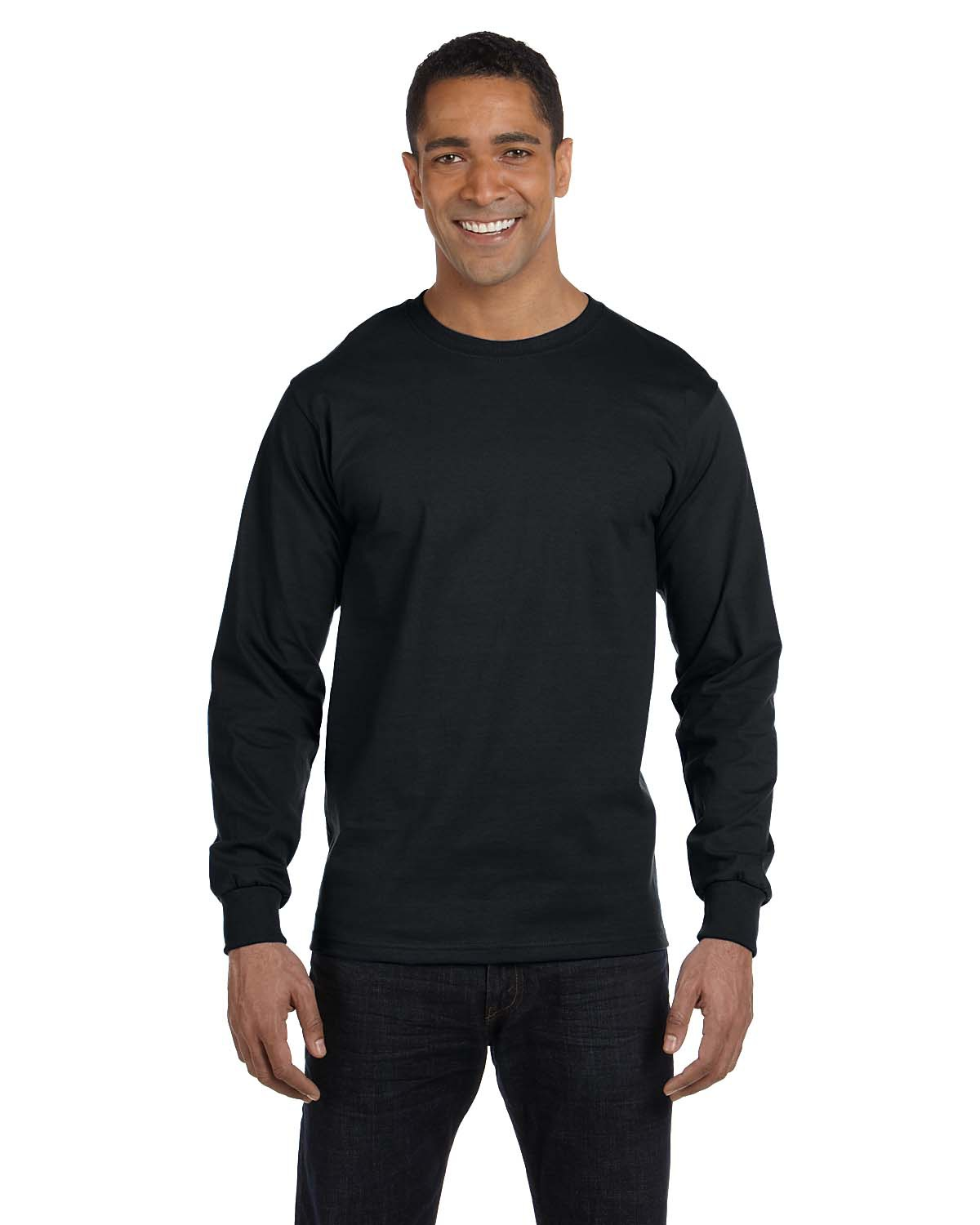 Hanes® 5186 Beefy-T® - 100% Cotton Long Sleeve T-Shirt