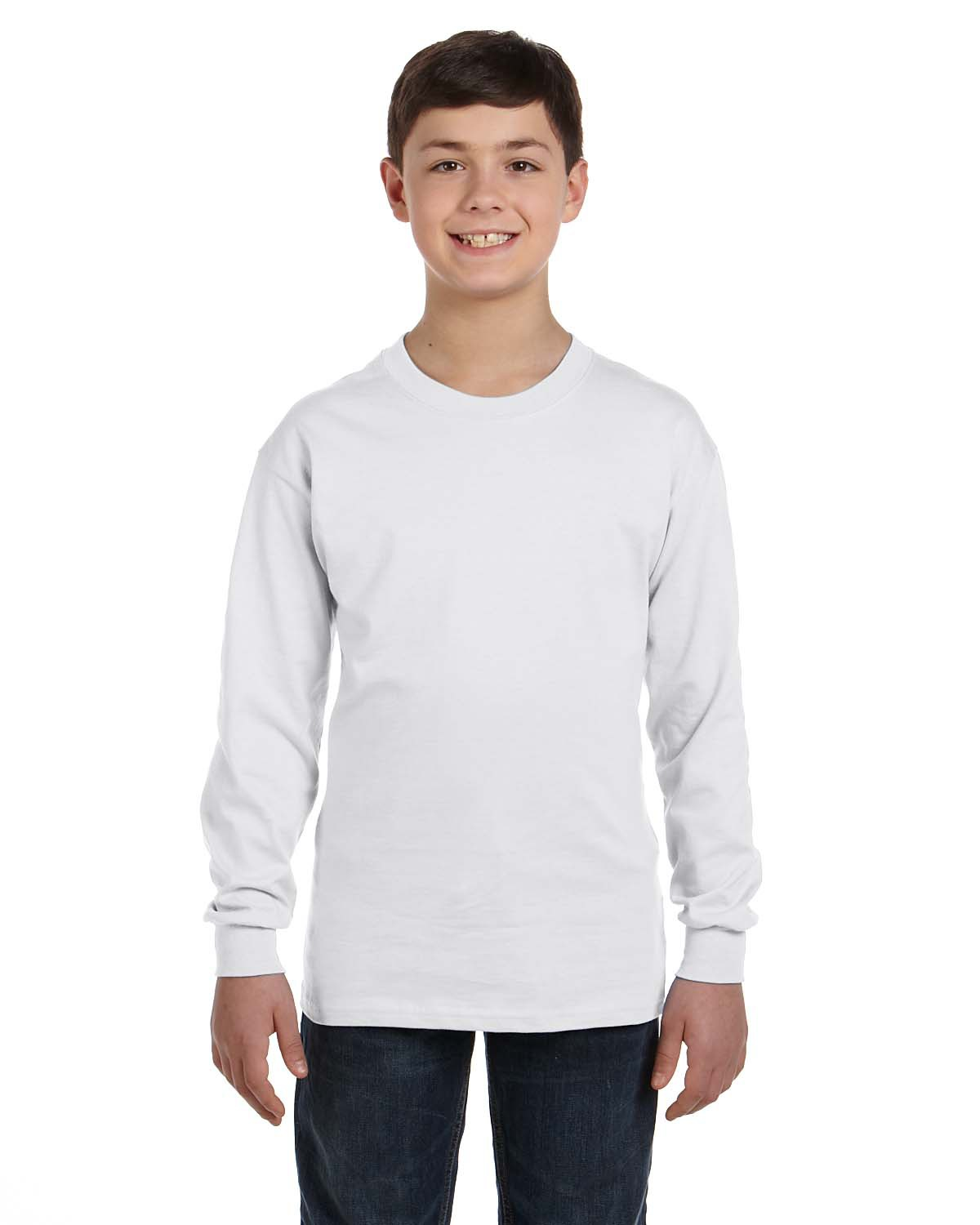 Hanes 5546 - TAGLESS Youth Long Sleeve T-Shirt