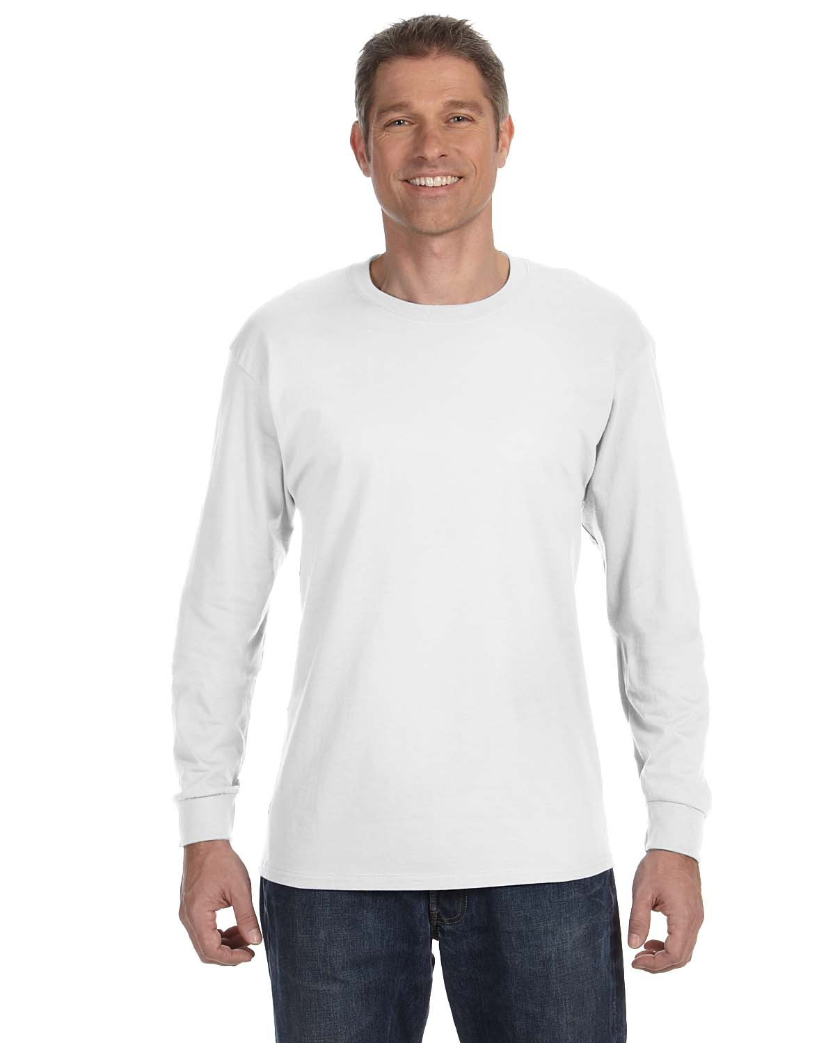 Hanes® 5586 Tagless® 100% Cotton Long Sleeve T-Shirt