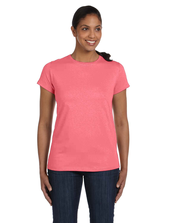 Hanes® 5680 Ladies ComfortSoft® Crewneck T-Shirt