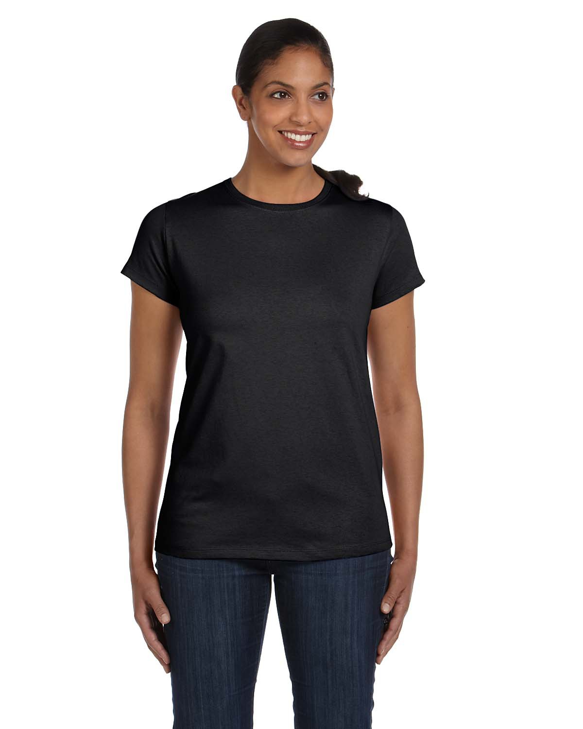 Hanes® 5680 Ladies ComfortSoft® V-Neck T-Shirt