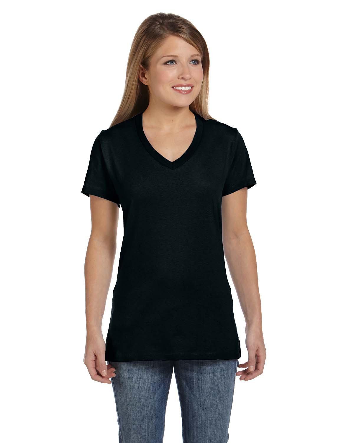 Hanes Ladies' V-Neck Nano-T® - S04V