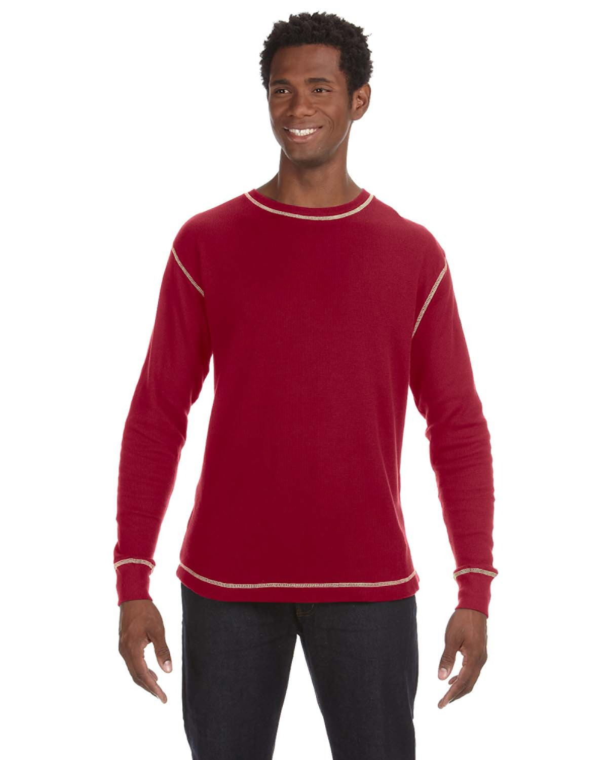 J America JA8238 - Vintage Long-Sleeve Thermal T-Shirt