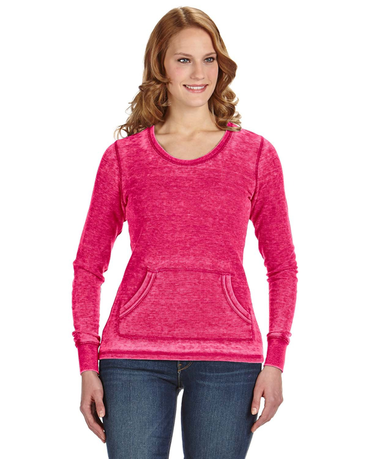 J America JA8255 - Ladies' Zen Thermal Long-Sleeve T-...