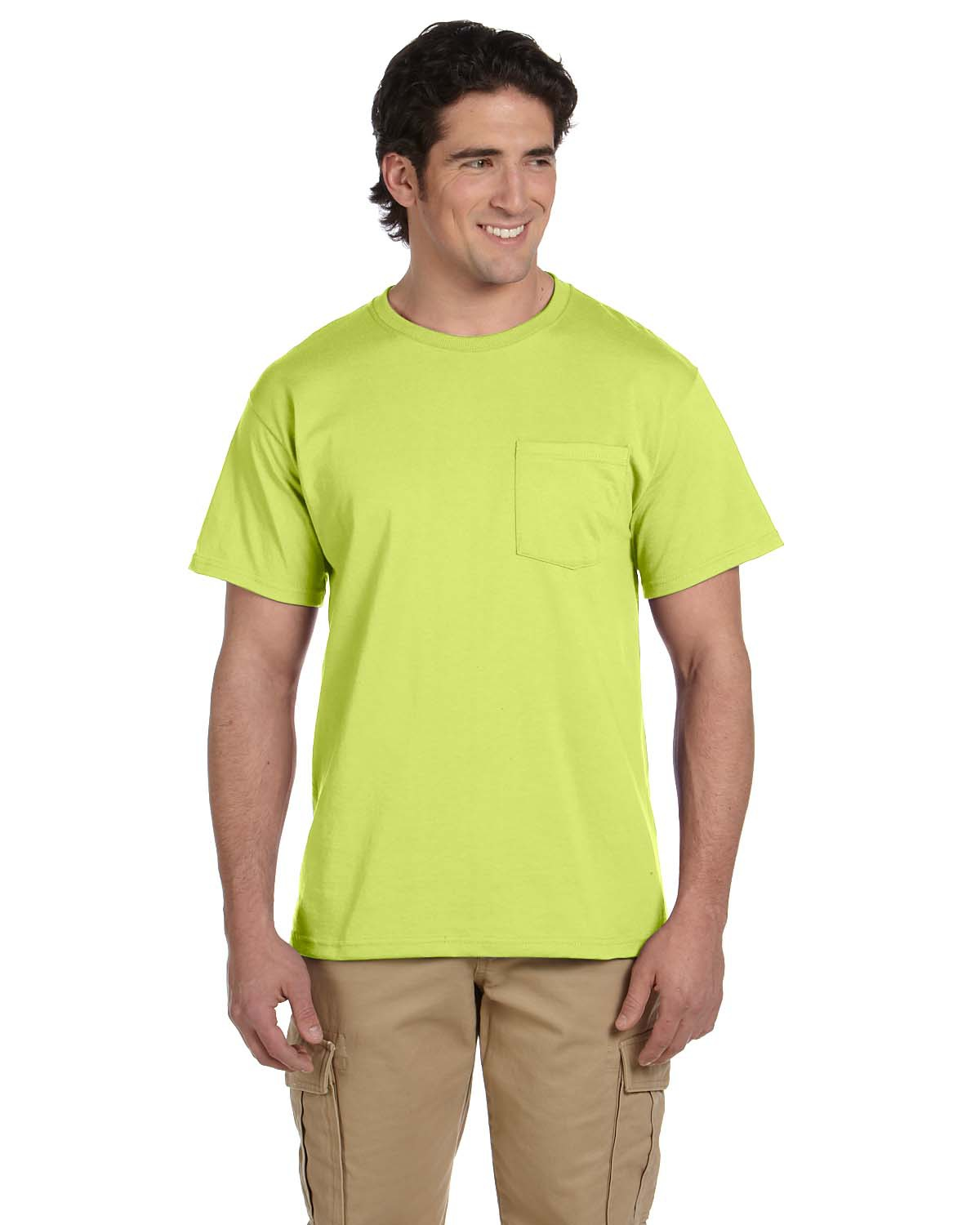 Jerzees 29P 5.6 oz., 50/50 Heavyweight Blend Pocket T