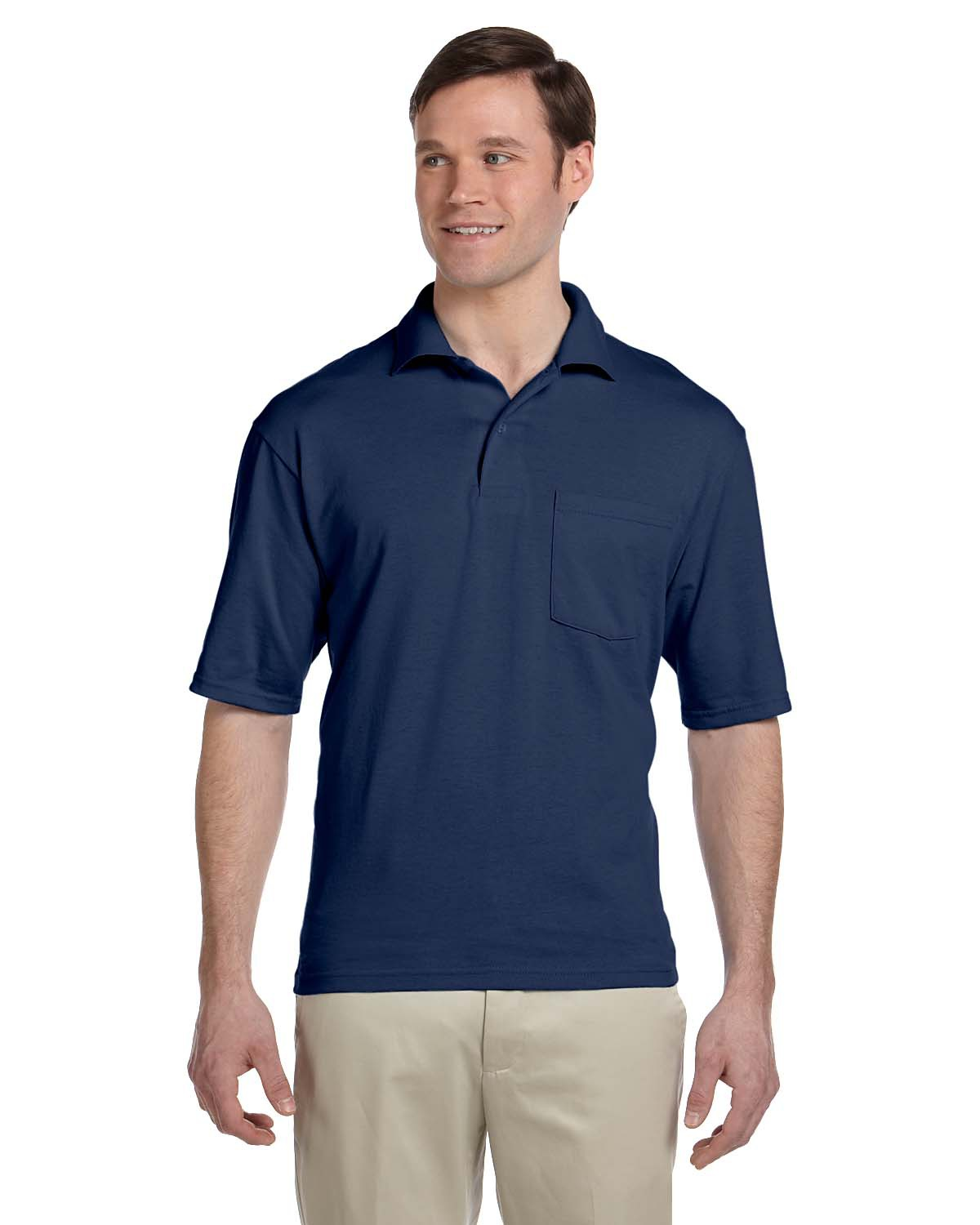 Jerzees 436P 5.6 oz., 50/50 Jersey Pocket Polo with SpotShield