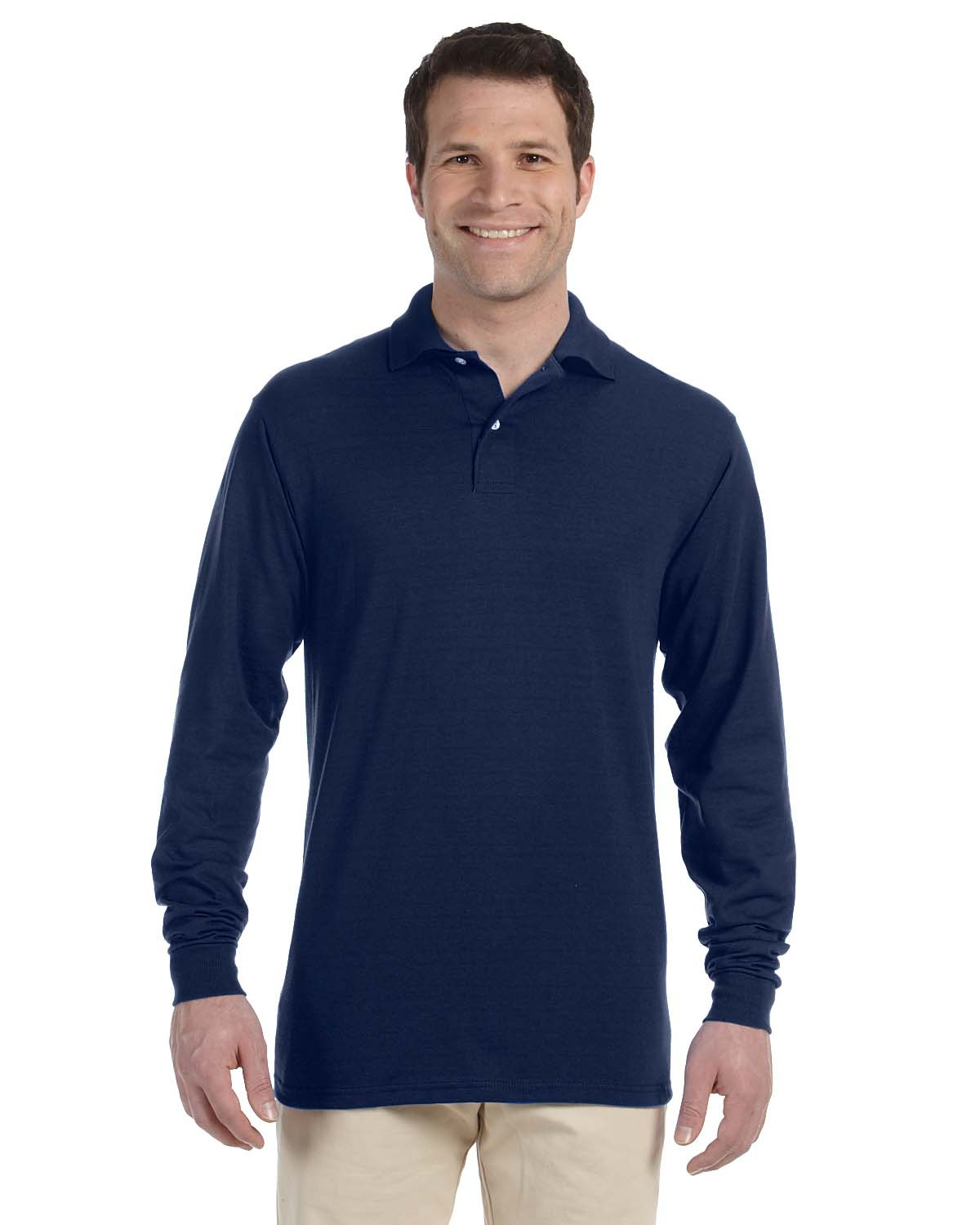 Jerzees 437ML- SpotShield 50/50 Long-Sleeve Sport shirt.