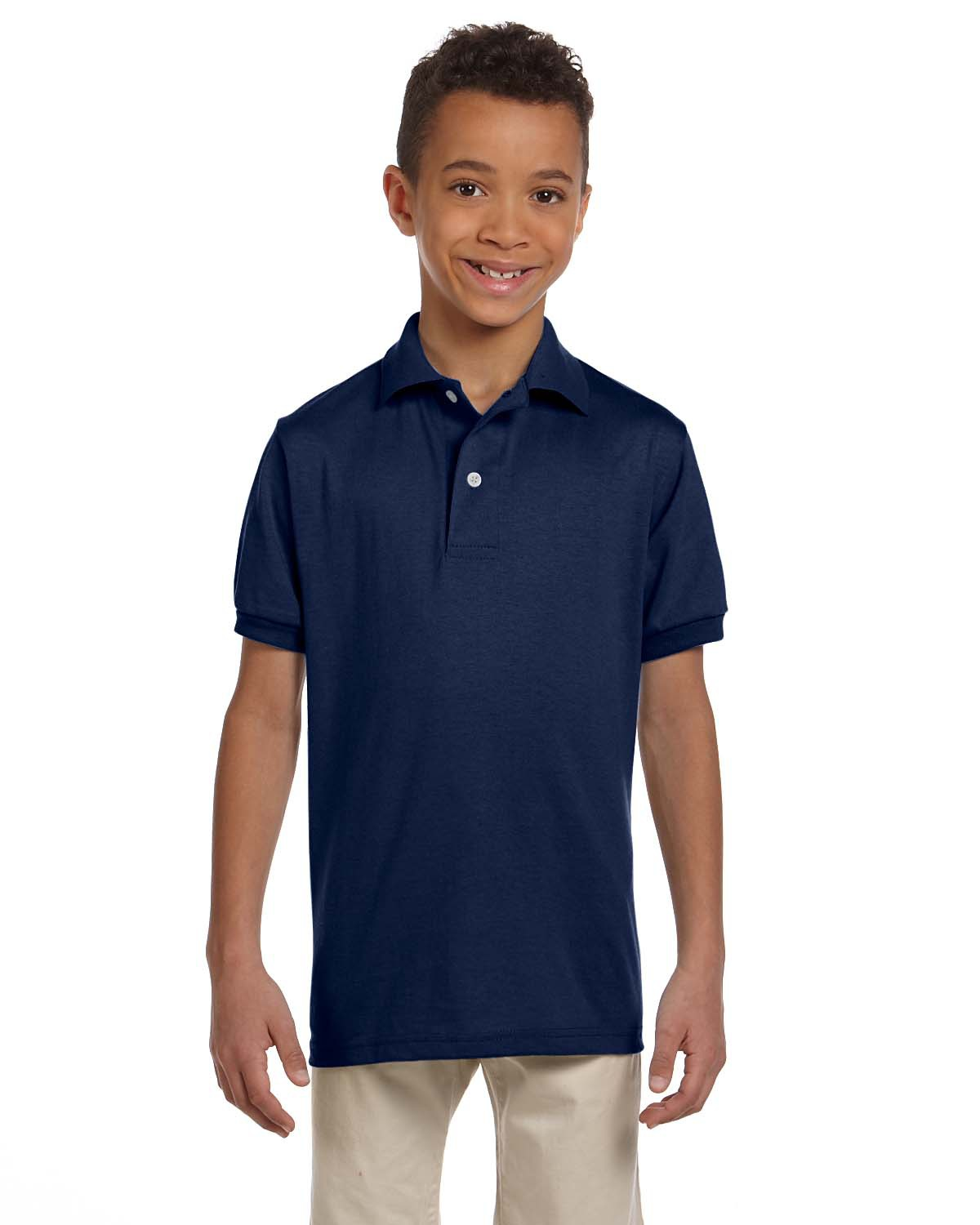 Jerzees 437Y  Youth 5.6 oz., 50/50 Jersey Polo with SpotShield
