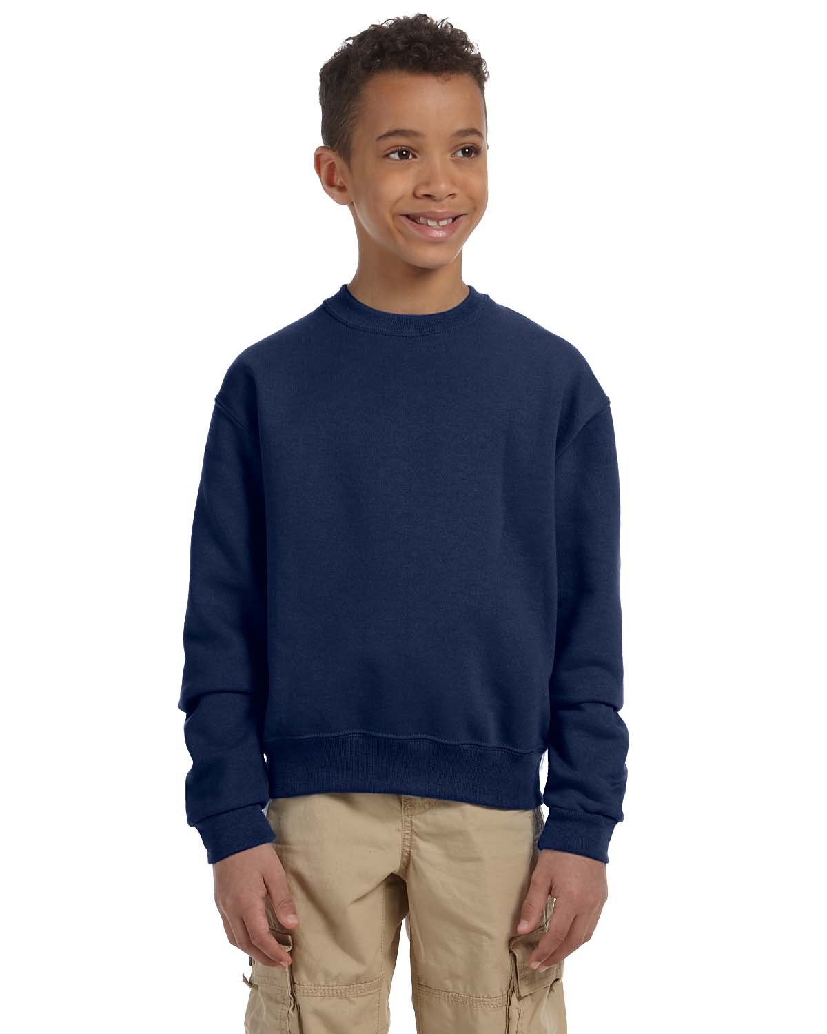 Jerzees 562B中青年青少年水手领运动衫