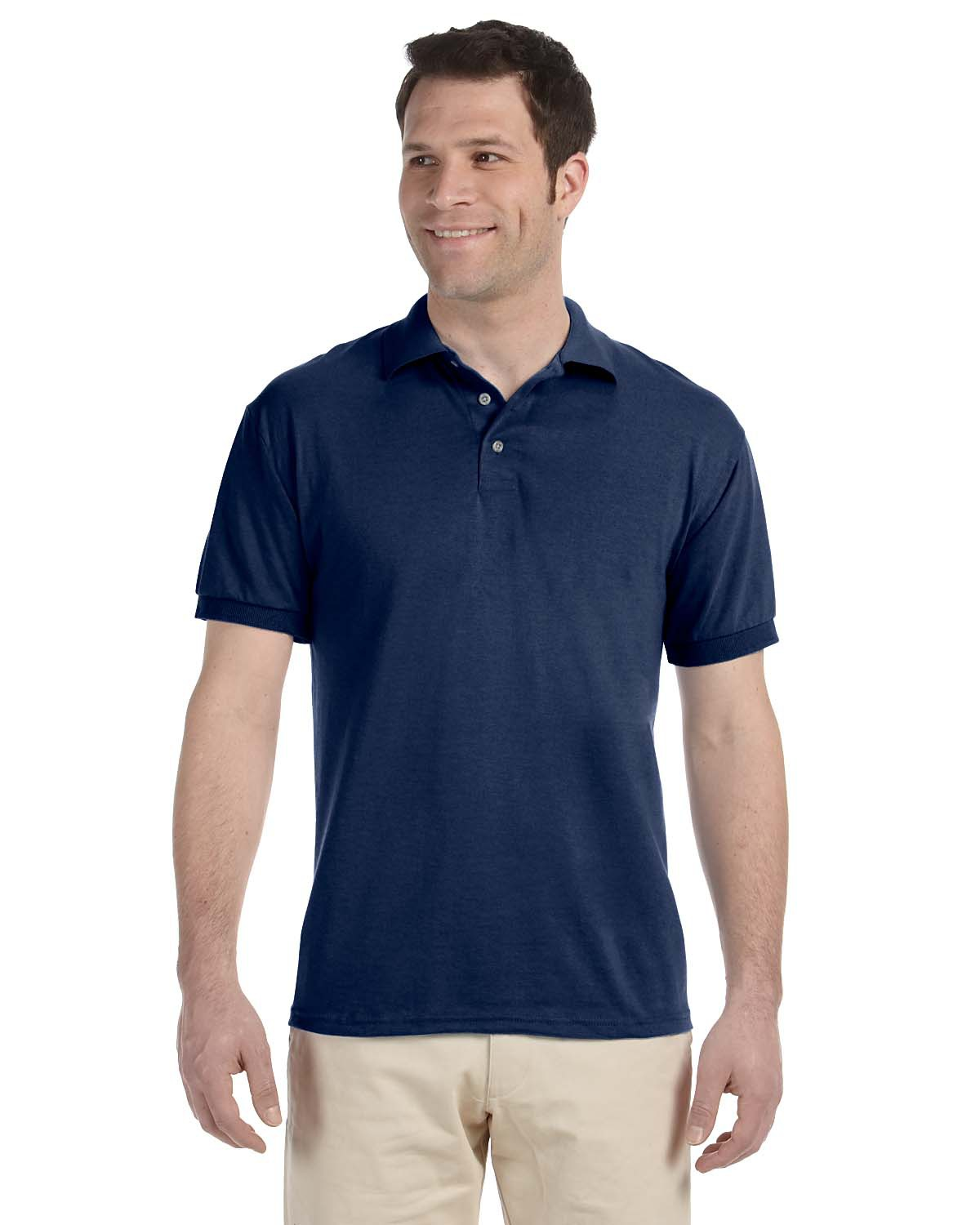 Jerzees J300  5.6 oz., 50/50 Blended Jersey Polo