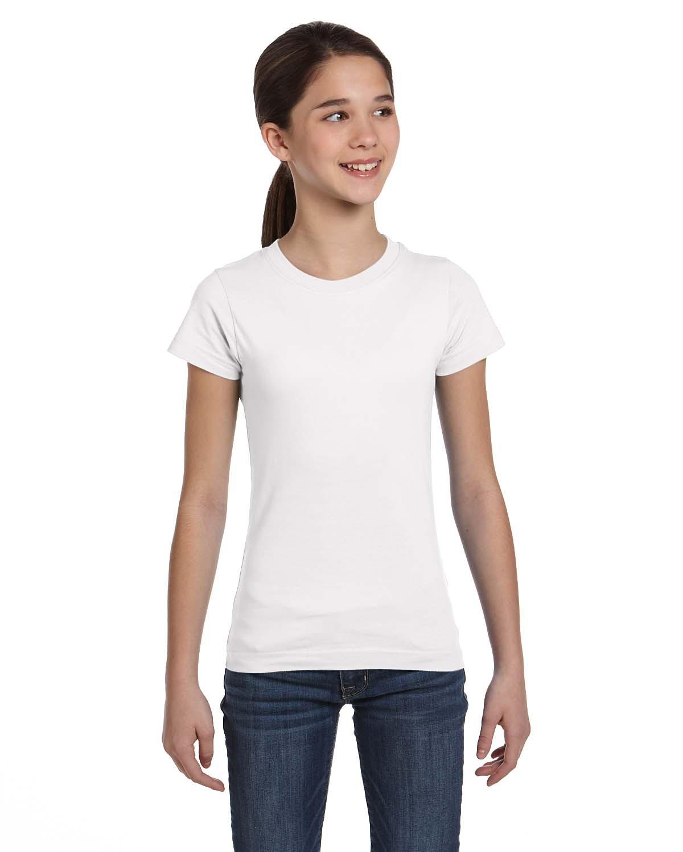 LAT 2616 Girls Fine Jersey Longer Length T