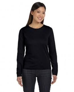 LAT 3588 女士环锭纺纱长袖T恤