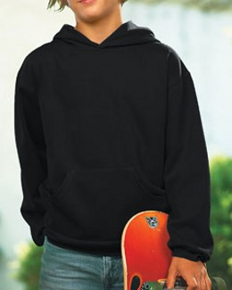LAT Drop Ship - 2296 Youth Fleece Hooded Pullover Sweatshirt With Pouch Pocket