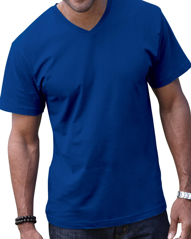 LAT Fine Jersey Unisex V-Neck T-Shirt - 6907