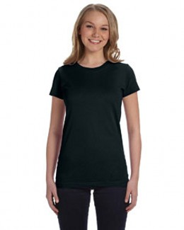 L.A.T Sportswear 3616 Juniors' Fine Jersey Longer Length T-Shirt