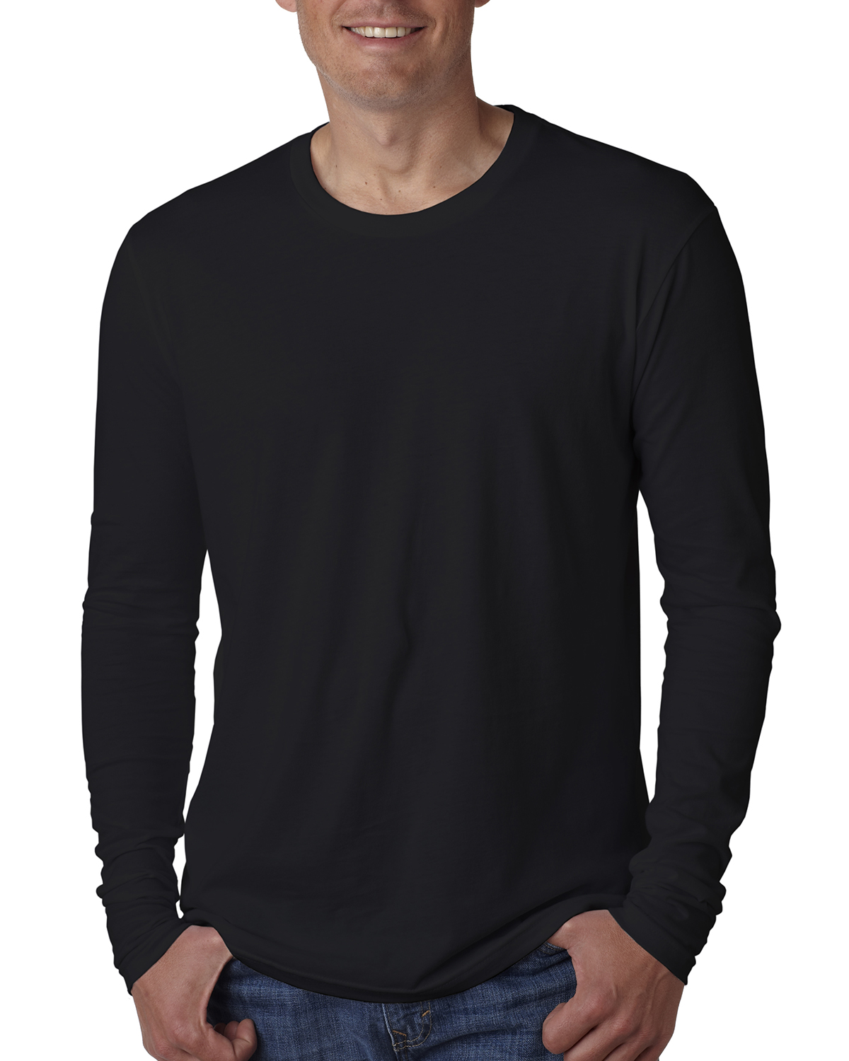 Next Level 3601 - Men's Long-Sleeve Cotton Crew