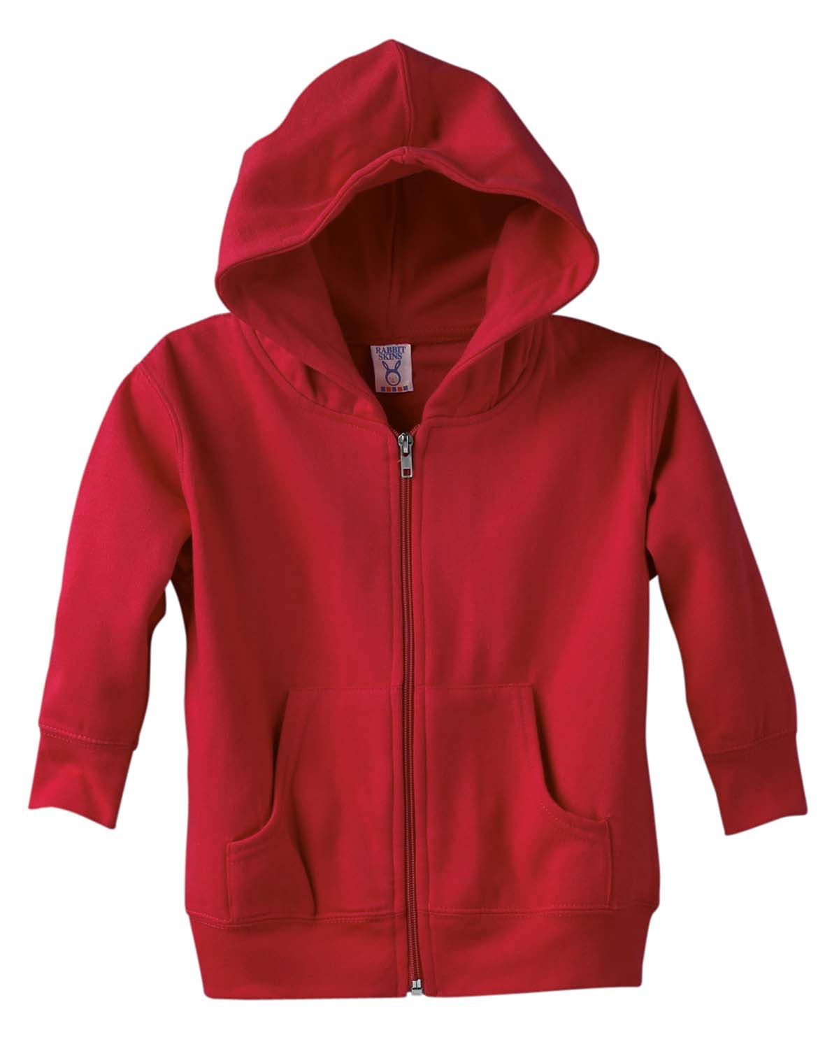 Rabbit Skins 3346 Toddler Hooded Full-Zip Sweatshirt