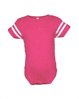 Rabbit Skins Drop Ship 4437 - Infant Fine Jersey Football Bodysuit