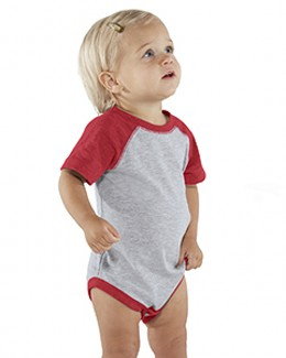 Rabbit Skins Drop Ship RS4430 - Infant Vintage Fine Jersey Baseball Bodysuit