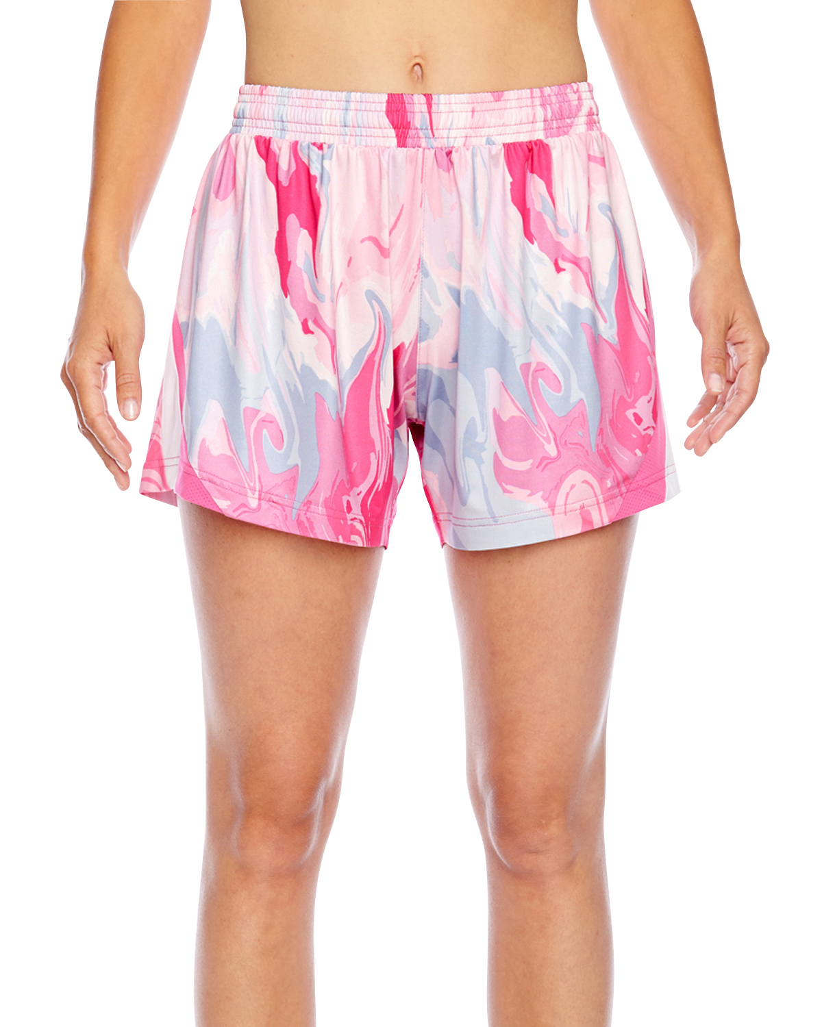 Team 365 TT42W - Ladies' All Sport Sublimated Pink Swirl Short