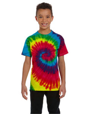 Tie-Dye CD100Y Youth 5.4 oz., 100% Cotton Tie-Dyed T-...