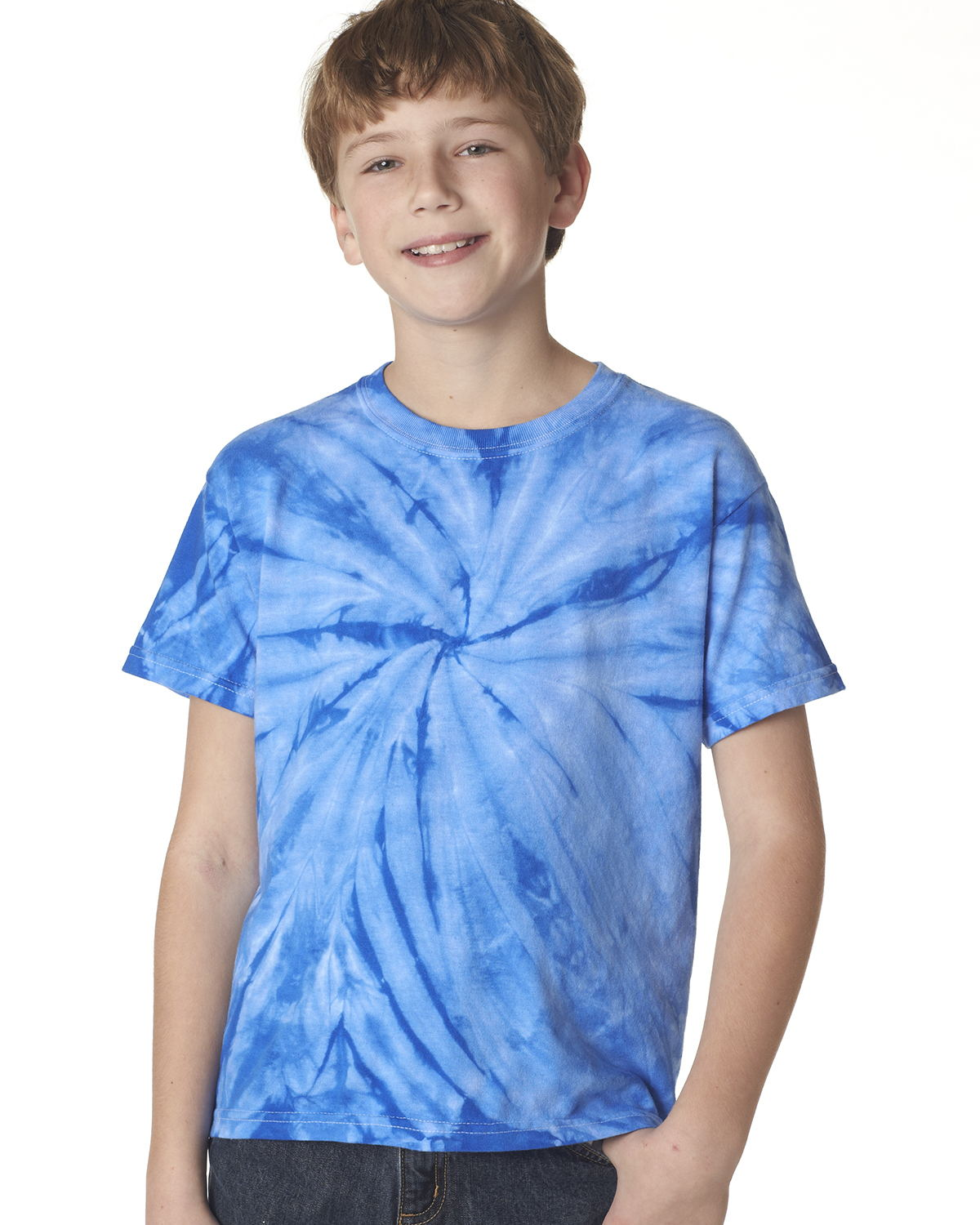 Tie-Dyed 20BCY - Youth Cyclone Vat-Dyed Pinwheel Short Sleeve T-Shirt
