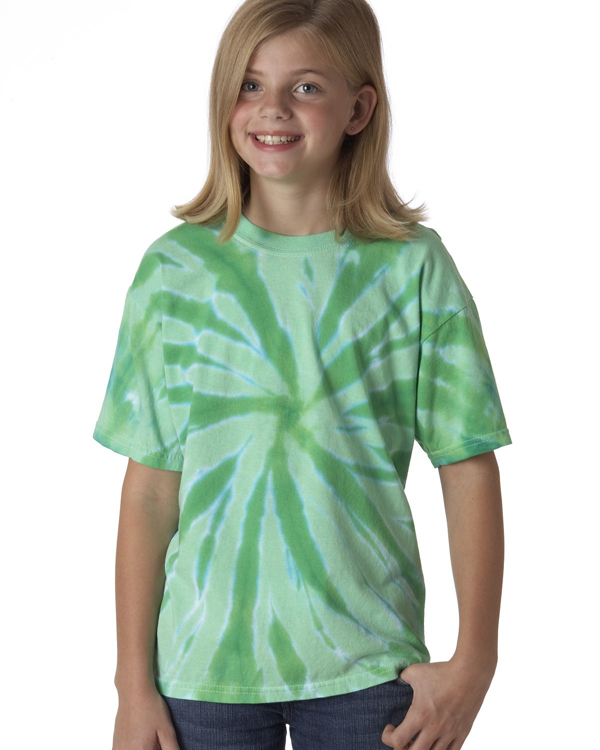 Tie-Dyed 20BTT - Youth Tone-on-Tone Pinwheel Short Sleeve ...