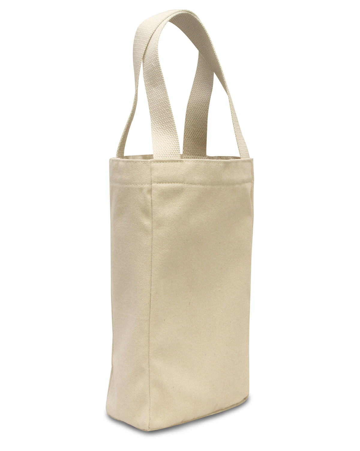 Ultraclub 8868 Canvas Tote Natural//Forest Green One Size