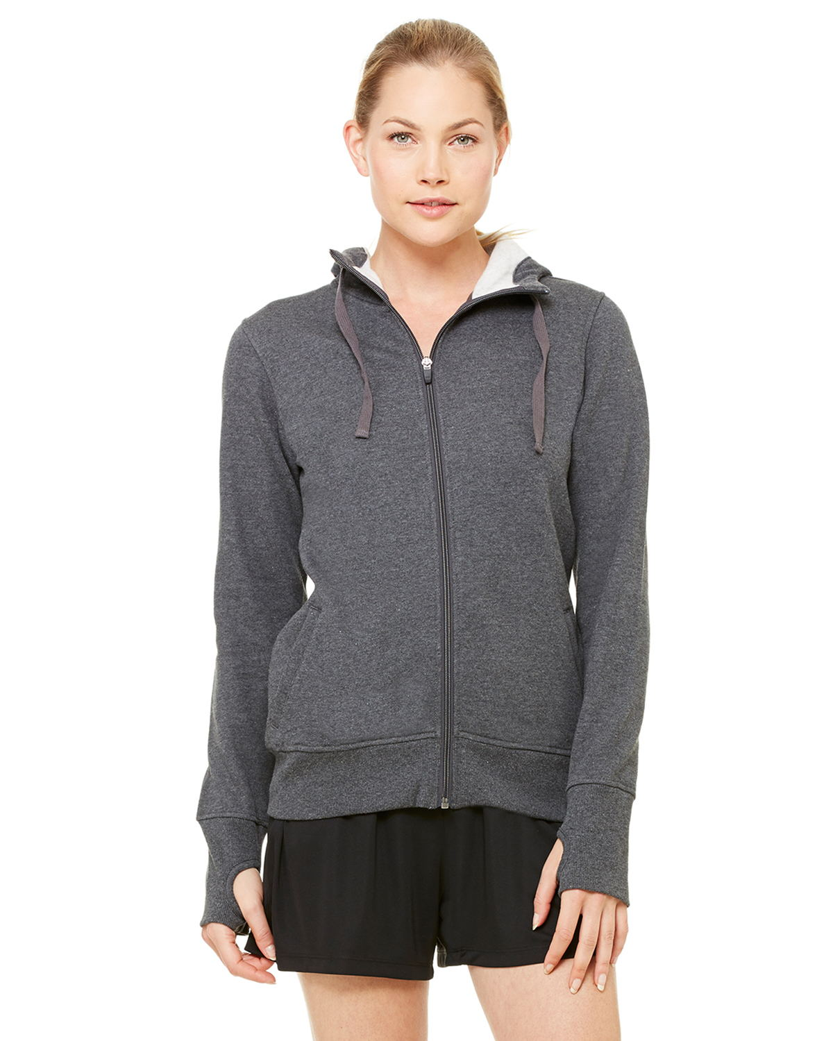 alo - Ladies' Performance Fleece Hooded Full-Zip