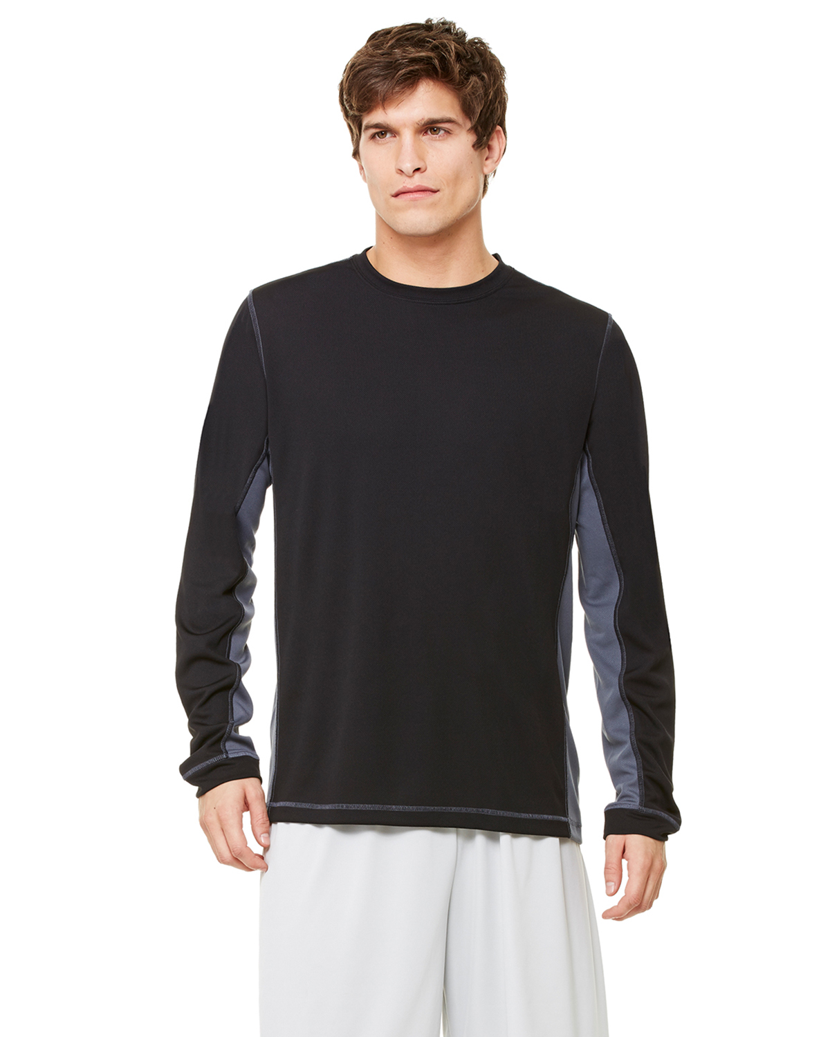 alo - Long Sleeve Pieced Interlock T-Shirt