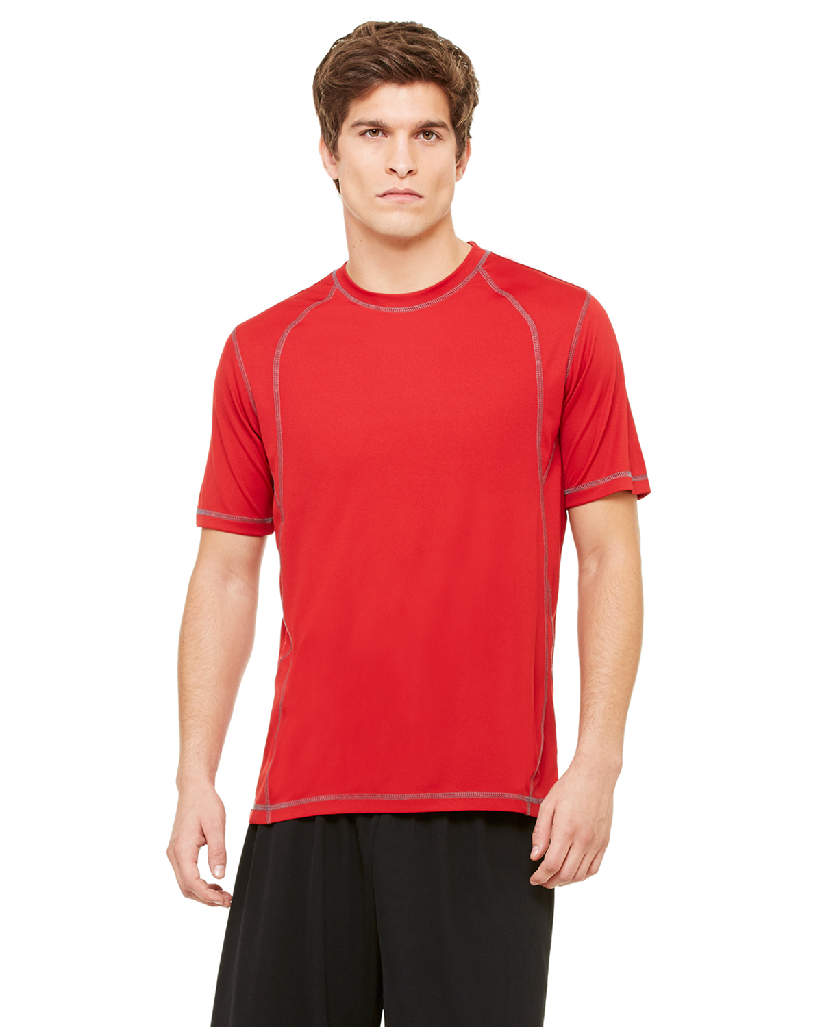 alo M1021 Short Sleeve Pieced Interlock T-Shirt