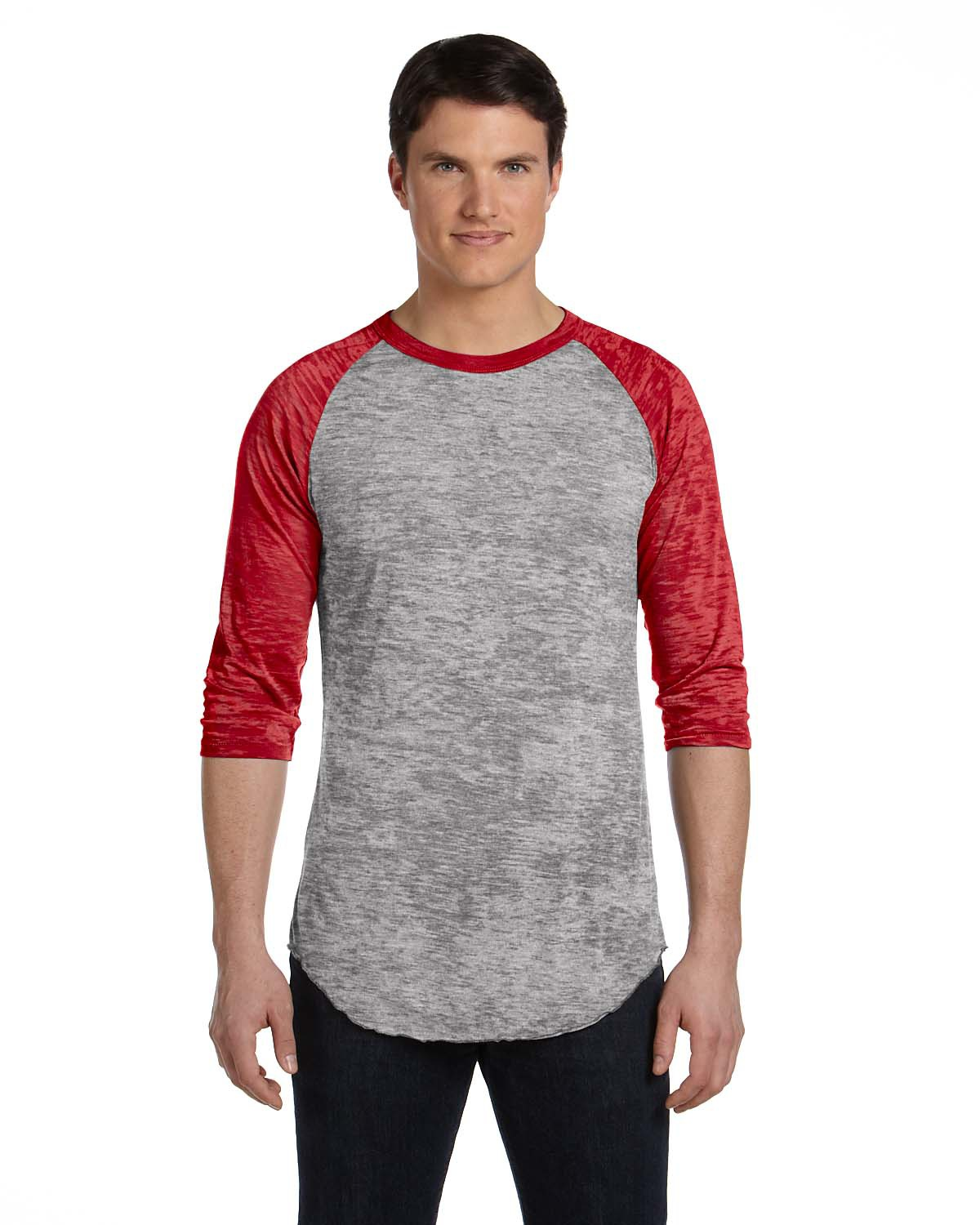click to view GREY HEATHER/ RED