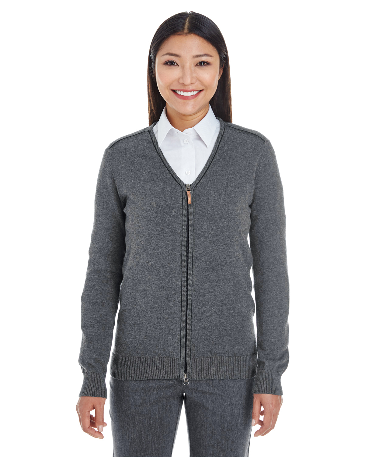 Devon & Jones DG478W - Ladies' Manchester Fully-Fashioned Full-Zip ...