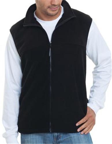 f9daaa290d12 Bayside 1120 - Full Zip Fleece Vest  20.63 - Men s Outerwear