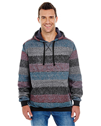 aeb5b4308cf1bc Burnside B8603 - Men s Printed Stripe Marl Pullover  24.04 - Men s Outerwear