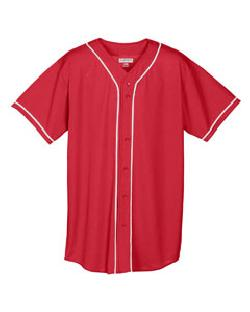 205beb7bacc Augusta Sportswear 593 - Wicking Mesh Braided Trim Baseball Jersey ...