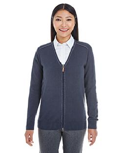 17c2b31b19 Devon   Jones DG478W - Ladies  Manchester Fully-Fashioned Full-Zip ...