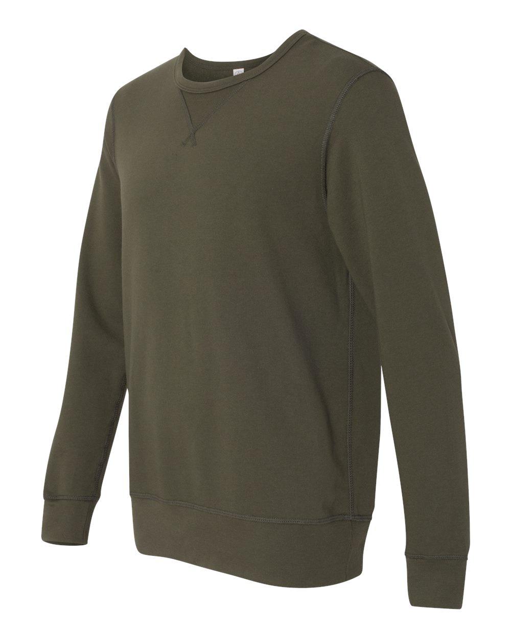 Alternative Mens Vintage Sport French Terry B-Side Reversible Crew Neck Sweatshirt