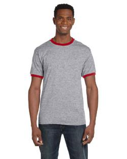 click to view HEATHER GREY/RED