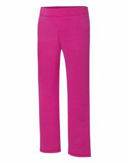 e64159777c14f0 Hanes OK282 - ComfortSoft EcoSmart Girls' Open Leg Sweatpants $4.75 ...