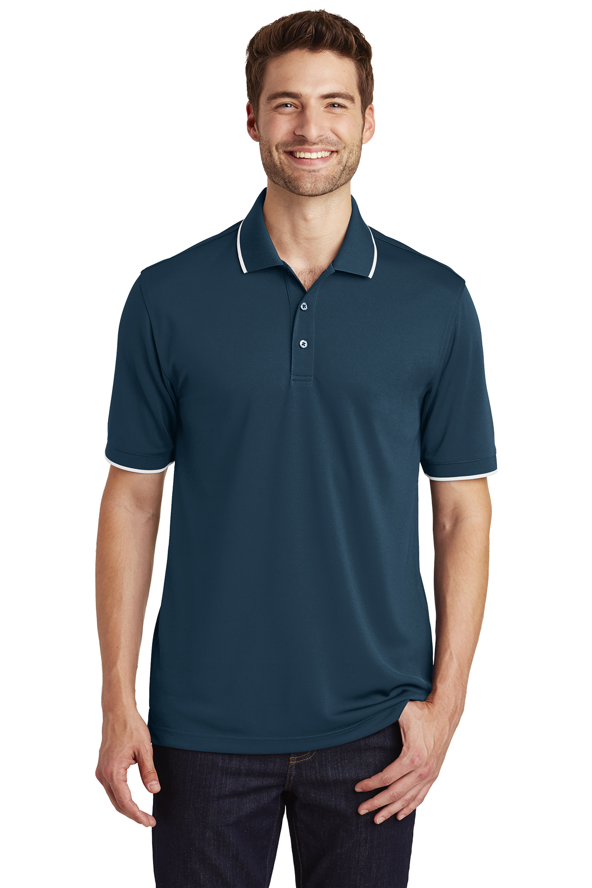 click to view River Blue Navy/ White