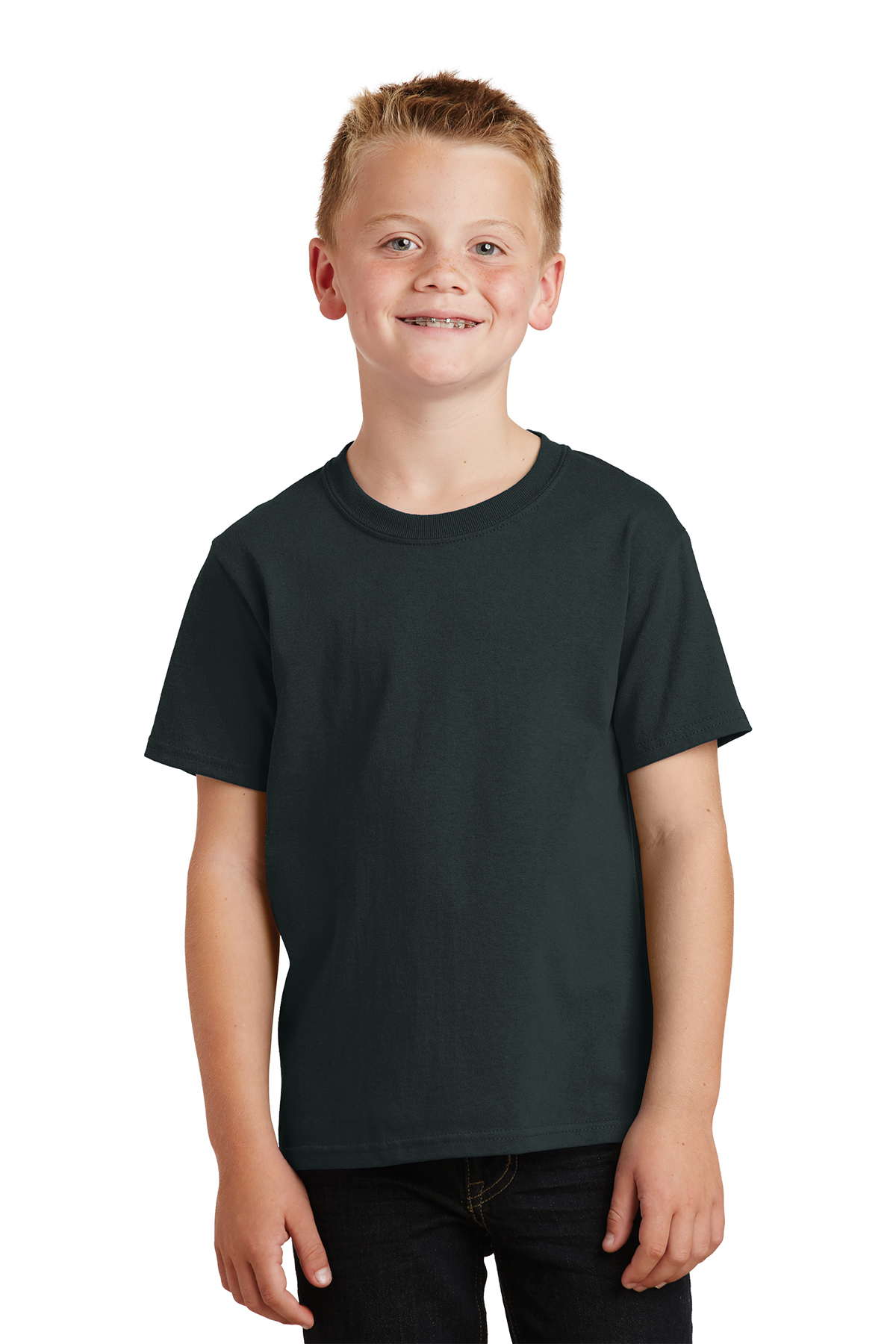 XL Port /& Company PC099Y Youth Essential Pigment-Dyed Tee Coal